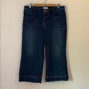 LOFT Jeans - LOFT Wide Leg Cropped Jeans